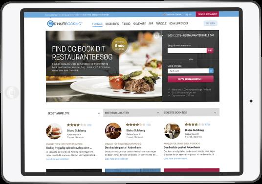 DinnerBooking Online booking - vores portal