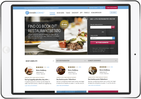 DinnerBooking Online table reservation - our portal